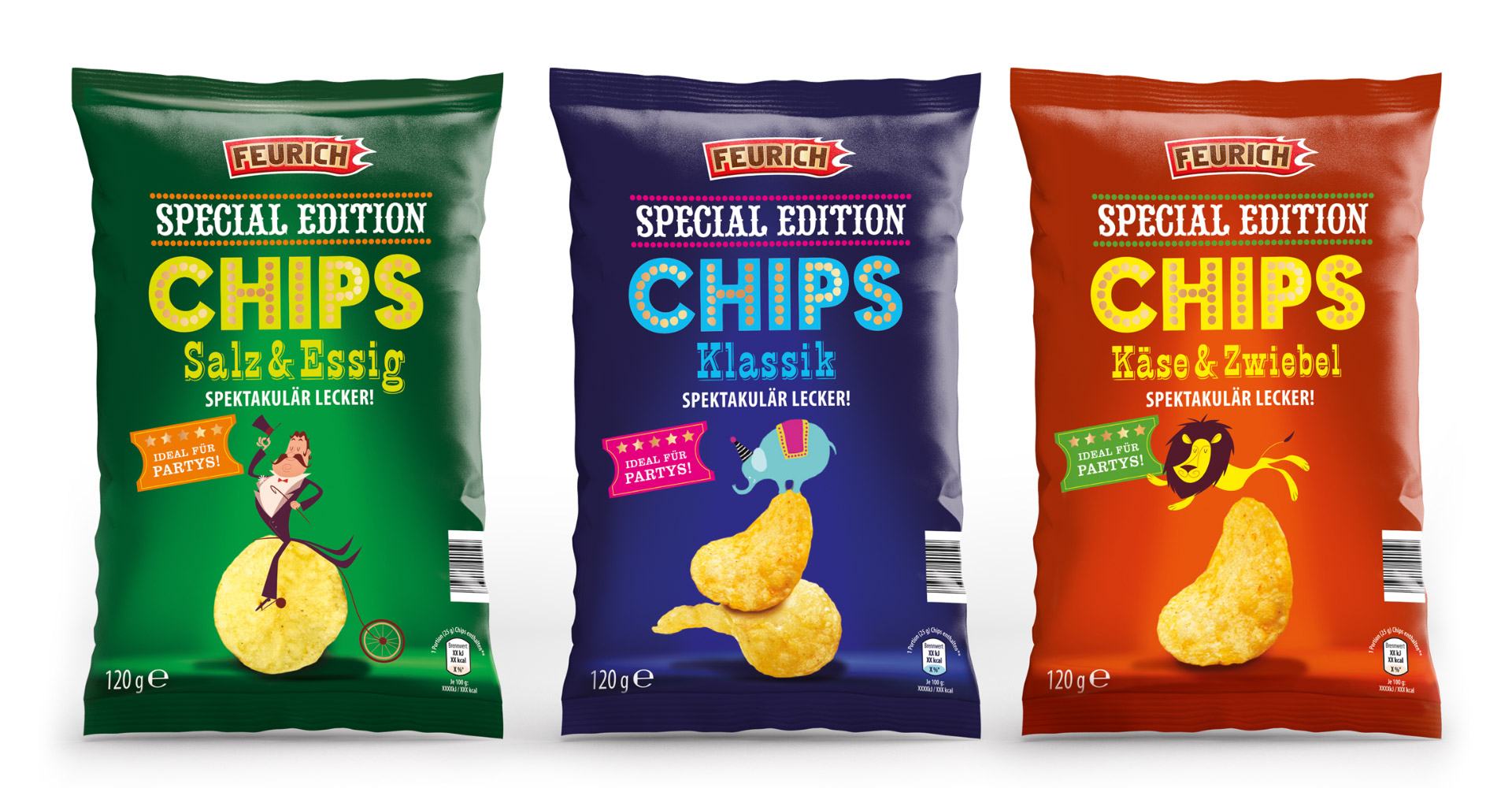 Feurich Special Edition Crisp Packet Design By Louise Russell Design