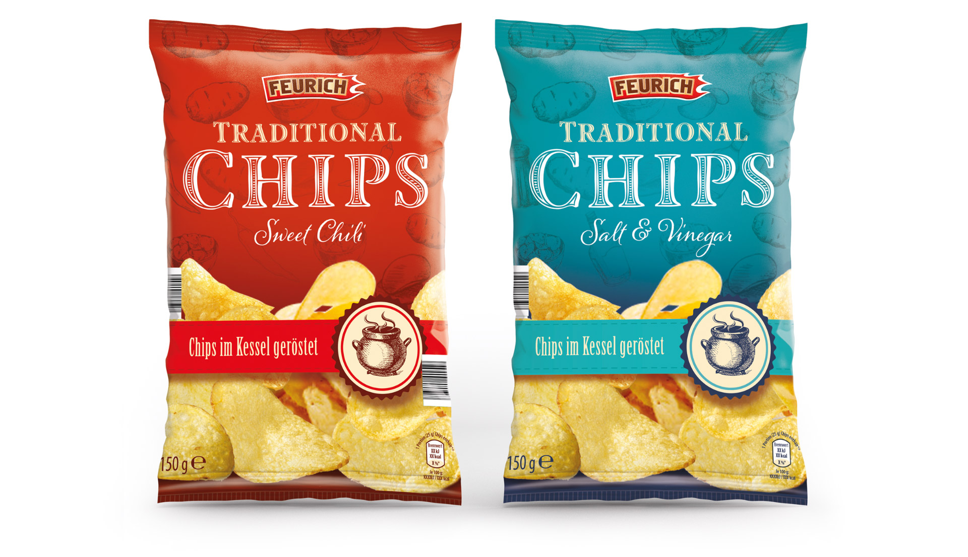 Feurich Traditional Crisp Packet Design By Louise Russell Design
