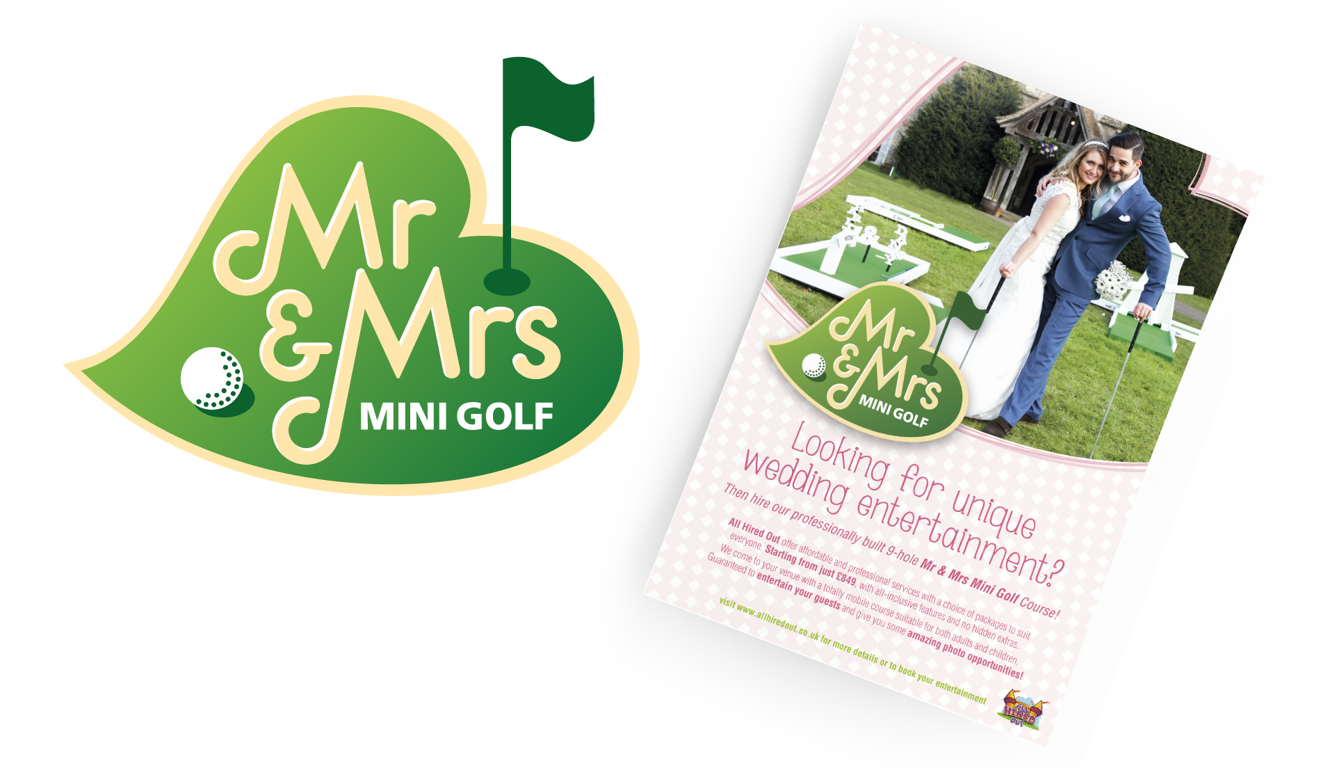 Mr and Mrs Mini Golf Logo And Flyer Design By Louise Russell Design