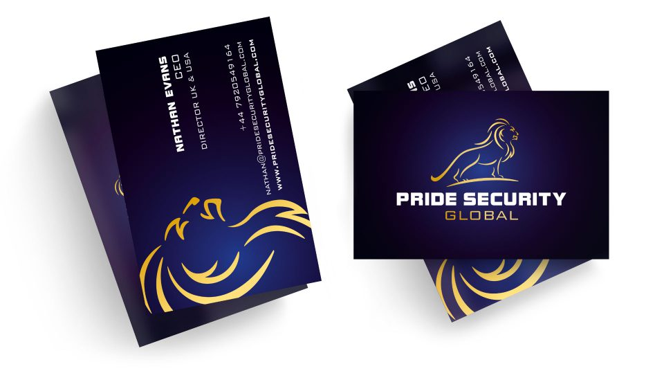 Pride Security Global logo design by Louise Russell Design