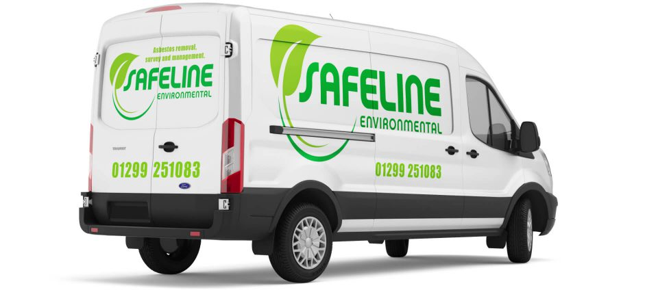 Safeline Environmental vehicle livery design by Louise Russell Design