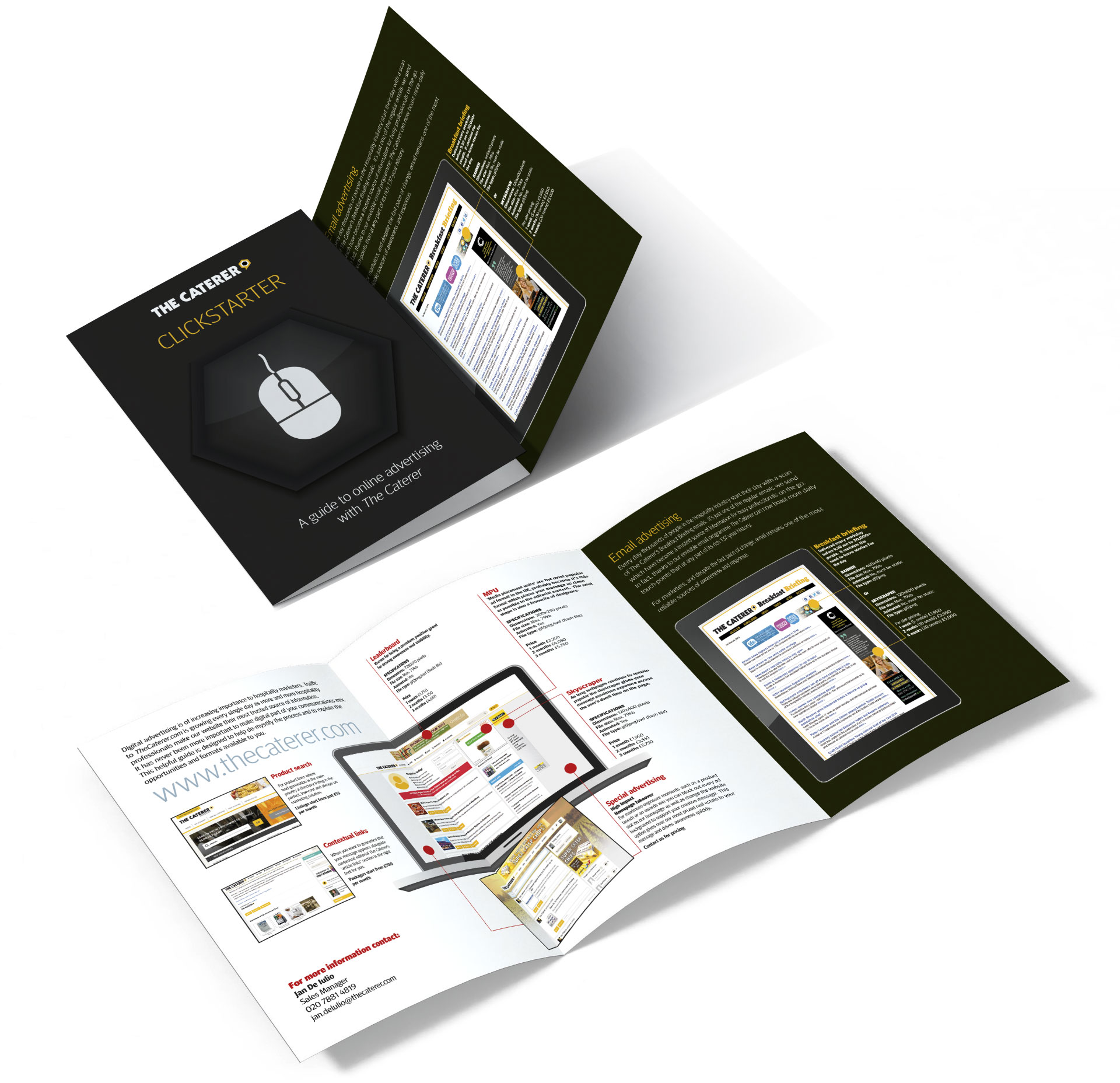 The Caterer Clickstarter Brochure Design By Louise Russell Design