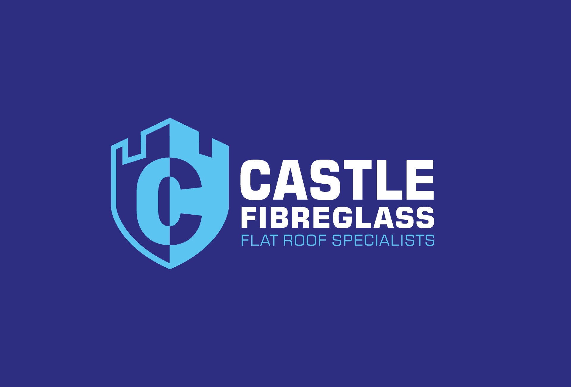 Castle Fibreglass logo design and branding